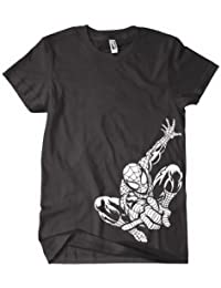 Spiderman T Shirt - Inspired By the Comic and Movie - Bottom In Black
