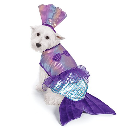 Zack & Zoey irisierend Meerjungfrau Kostüm für Hunde