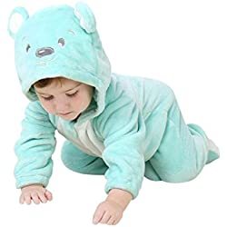 Katara- Pijama Bebé Invierno Disfraz Animal (10+ Modelos) 12-24 Meses, Color oso turquesa, 18-24 80-90cm Desde el Hombro (CN 100) (1778-008)