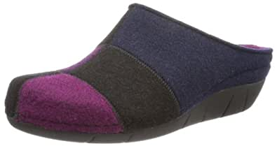 Berkemann Klarissa 01324-028, Damen Pantoffeln, Mehrfarbig (lila/Patch 028), EU 40 2/3 (UK 7)