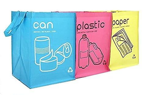 New Recycle Tasche wasserdicht Mülleimer Körbe mit Griffe Fach Container