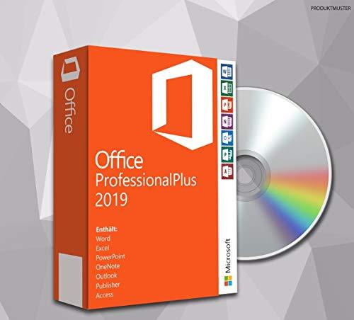 MS Office Professional Plus 2019 (32 Bit+64 Bit) mit DVD, Original Lizenz-Key, Produktschlüssel, Deutsche Lizenz, Anleitung von SWU Softwareunion