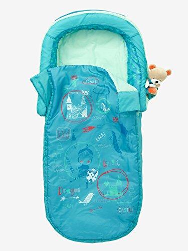 Vertbaudet Kinder Schlafsack mit Luftmatratze Ritter grün Bedruckt ONE Size