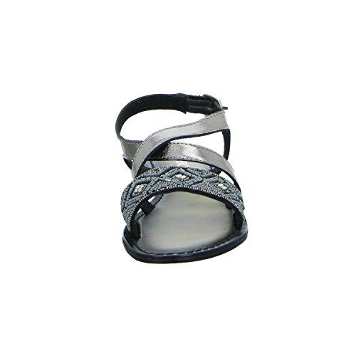 BOXX EMB-6778 Damen Sandalette bis 30mm Absatz Grau (Zinn)