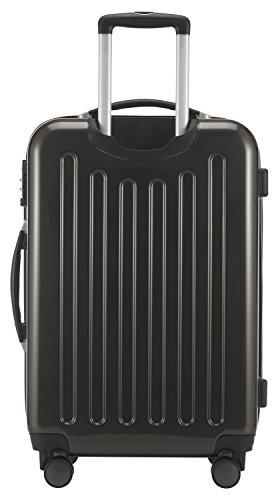 HAUPTSTADTKOFFER Alex - NEU 4 Doppel-Rollen 3er Trolley-Set Rollkoffer Reisekoffer, (S, M und L) Koffer-Set, 75 cm, 235 L, Graphit - 7