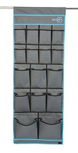0 16 Fächer Organizer für Vorzelt, Wohnwagen,Wohnmobil,in Grau Blau 123 X 48 cm