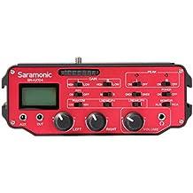 Saramonic SR-AX104 dos-canal-XLR-Audio-adaptador con preamplificador y alimentación fantasma para cámaras réflex digitales y videocámaras