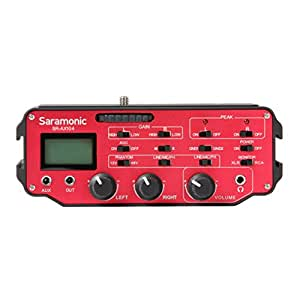 Saramonic SR-AX104 Zwei-Kanal-XLR-Audio-Adapter mit Vorverstärker und Phantomspeisung für DSLR Kameras und Camcorder