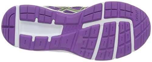 Asics Unisex-Kinder Gel-Galaxy 9 Gs Laufschuhe Mehrfarbig (Orchid/Silver/safety Yellow)