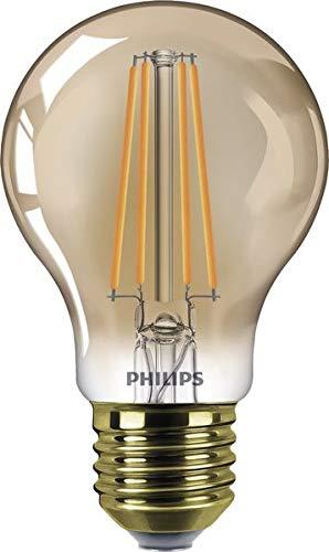 Philips Classic LEDBulb D 8-50W A60 E27 820 GOLD LED-Lampe, Filament, ersetzt 50 - 100w Classic-serie