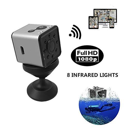 TONGTONG Mini-Funkkamera WiFi 1080P Sportkamera mit tragbarer Nachtsicht-Nanny-Kamera für Sicherheit zu Hause/im Büro und im Freien (Zu Hause-surveillance-system Sicherheit)