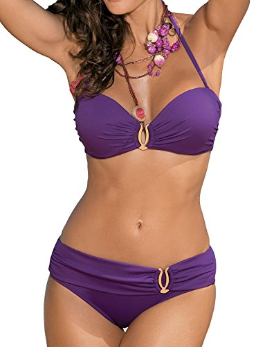 41uJvD3WHVL - BEST BUY# Marko Salma M-254 Two Piece Bikini, Size M, Purple Reviews