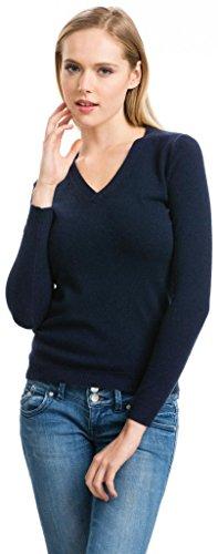 Pullover Damen - 100% Kaschmir - von Citizen Cashmere (2XL Blau) 41 100-03-05 (Twin Set Strickjacke Kaschmir-pullover)