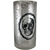 Argento Mercury Glass Skull vaso 8 in.