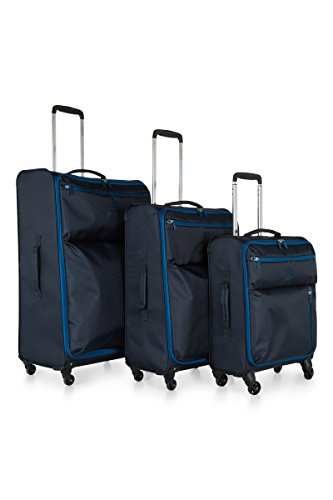 Revelation Weightless B2 Set of 3 Large/medium/cabin- Navy 4 wheel Maleta, 77 cm, 88 liters, Azul (Navy Blue)