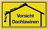 Schild Vorsicht Dachlawinen B.250xH.150mm Kunststoff gelb/schwarz