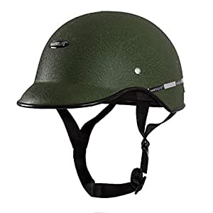 Habsolite HB-MWG2 Mini Wrinkle All Purpose Safety Helmet with Quick Release Strap for Men & Women (Green, Free Size)