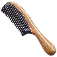 Preisvergleich für Aszhdfihas leicht zu Tragen Natürliches Handgemachtes Sandelholz-feines Zahn-Haar kämmt für die Männer der Kinder...