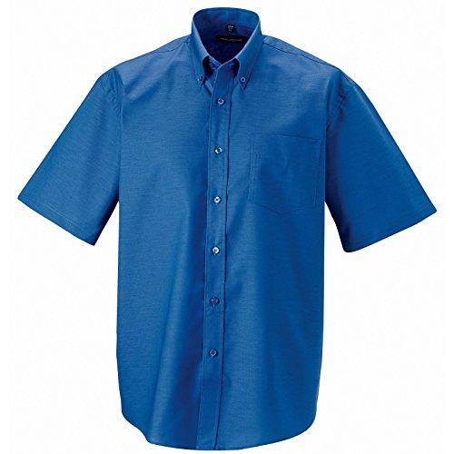 Russell Collection maniche corte da uomo facili da pulire e camicia 933 m Aztec Blue