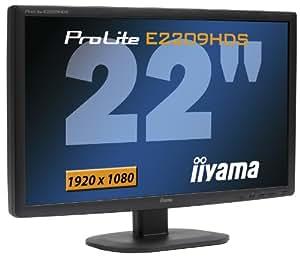 "iiYama PLE2209HDS-B1 Ecran PC LCD Full HD 22"" VGA DVI HDMI 1920x1080 2 ms 10.000:1 Noir"