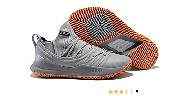 Low Grey Basketball Shoes for Men