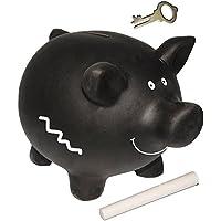Preisvergleich für alles-meine.de GmbH Großes XL _ Sparschwein - Schwein - Schwarz - Incl. Kreide - mit Schlüssel..