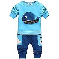 ROPALIA Bambini e ragazzi Manica lunga Completo Camicia + Pantaloni£¬Clothing Outfits