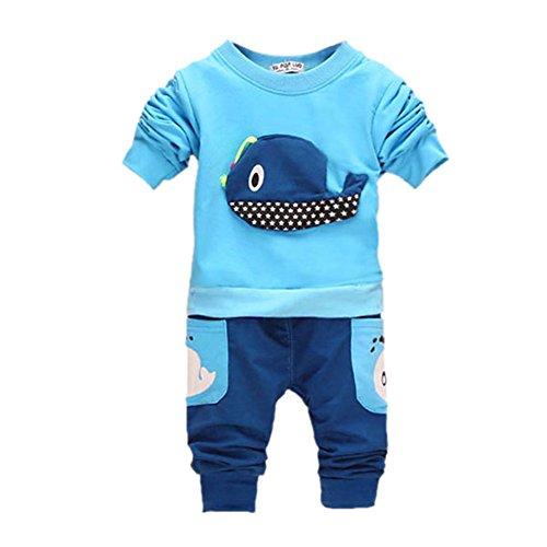 ROPALIA-Bambini-e-ragazzi-Manica-lunga-Completo-Camicia-Pantaloni-Clothing-Outfits