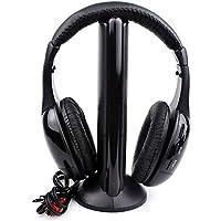 BOBOLover Auriculares Inalambricos 5 en 1 Hi-Fi Auriculares Inalámbricos Auriculares Auriculares para PC Laptop