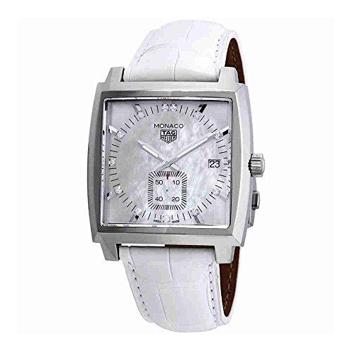 Tag Heuer Monaco Mutter von Pearl Diamant Zifferblatt Herren Armbanduhr waw131b. fc6247