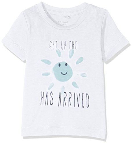 NAME IT Baby-Jungen T-Shirt NITGERLEF SS TOP Box MZNB, Weiß (Bright White), 68