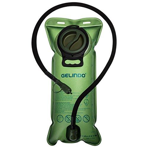 Gelindo Trinkblase 3 Liter 100oz, FDA genehmigt und BPA-frei, große Öffnung, Isolierschlauch, Trinkrucksack Ersatz für Wandern, Camping, Radfahren, Jagd (100 Oz-blase)