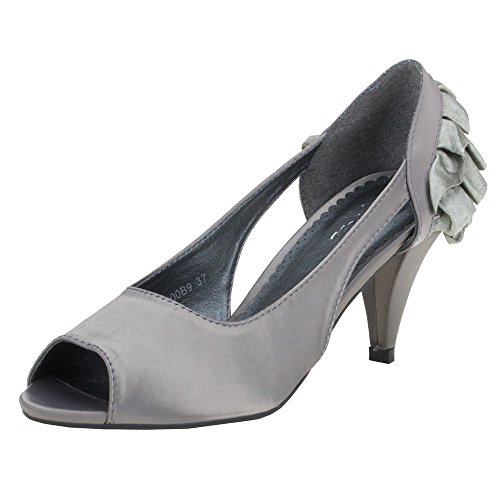 Ital-Design, Scarpe col tacco donna Grigio (grigio)