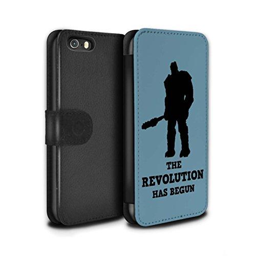 Stuff4® PU-Leder Hülle/Case/Tasche/Cover für Apple iPhone 5/5S / Revolution Ragnarok Kunst Muster/Lustige Korg Zitate Kollektion (Marvel Handy-fall Iphone 5)
