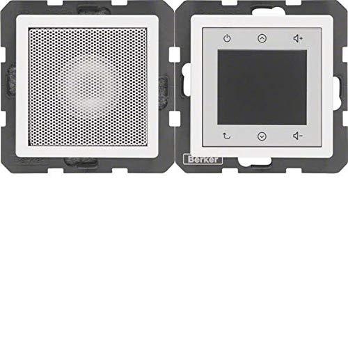 Berker Radio Touch 28806089 polarweiß samt Q.1 Elektronik-Gerät für Installationsschalterprogramme 4011334342465