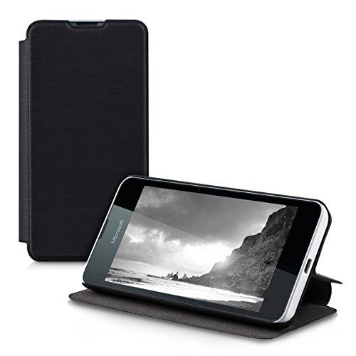 kwmobile Microsoft Lumia 550 Hülle - Flip Handy Schutzhülle - Cover Case Handyhülle für Microsoft Lumia 550