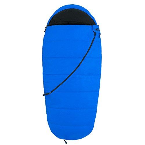Qeedo Kinder-Schlafsack, Buddy Junior (bis 155 cm Körpergröße) - blau