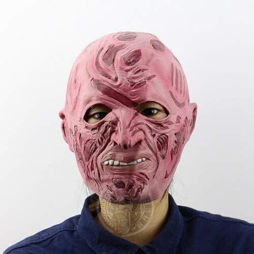 pielzeug Krüger Kostüm Requisiten Latex Freddy Maske Halloween Horror Ghost Zombie Freddy Jason Maske, Bildfarbe ()