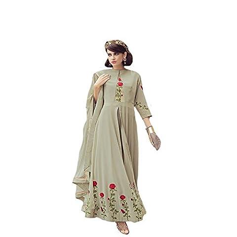 Muslim Hijab Indian Ethnic Party Wear Wedding Ceremony Anarkali Salwar kameez Suit 8714