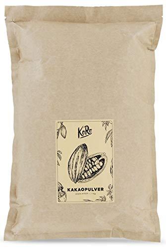 Bio Kakaopulver | Stark Entölt | Aus Kontrolliert Biologischem Anbau | 1 kg Vorratspackung | KoRo | Vorteilspackung