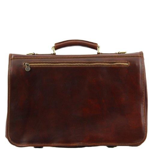 Tuscany Leather Ancona - Messenger Tasche aus Leder - Gross Dunkelbraun Lederaktentaschen Braun