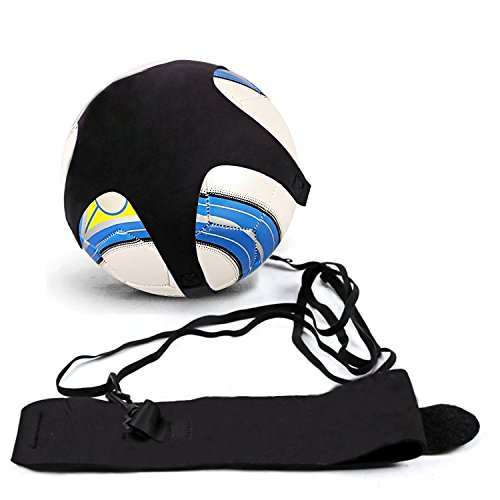 BROTOU Football Kick Trainer  Soccer Solo Skill Practice Training Aid for Kids Youth Adult Universal Fits Size 3  4  5 Footballs  Black2