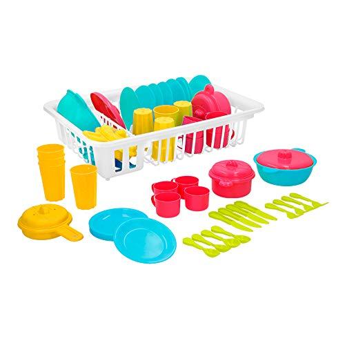 ColorBaby - Escurridor, 35 piezas de menaje (43286)