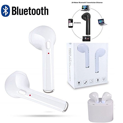 Mini auricolari Bluetooth 4.2 + EDR, stereo, in-ear, wireless, vivavoce con microfono, per Apple Airpods iPhone 7/7 Plus/6/6S Plus, HTC, Sony e dispositivi Android