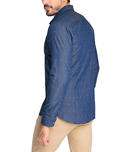Esprit 036eo2f003 - Fine Details - Chemise Business - Homme Bleu - Bleu (bleu foncé)