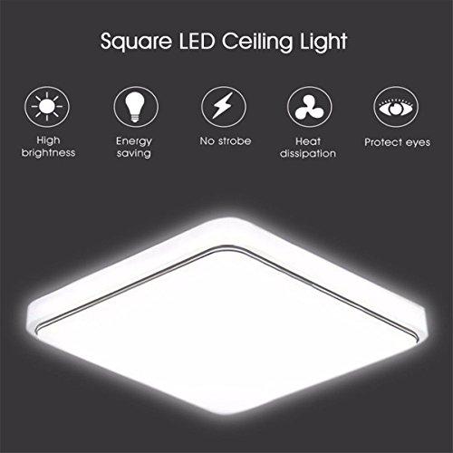 Desinger LED-Deckenleuchte Downlight 1000LM Einbauküche Schlafzimmer Leuchte Lampe 12/24 / 36W (Größe : 22 * 22cm)