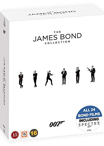 James Bond Collection - 24-Disc Box Set ( Spectre/ Skyfall / Quantum of Solace / Casino Royale / Die Another Day / The World Is Not Enough / Tomorrow Never Dies [ Dänische Import ] (Blu-Ray) (Men Dvd-box-set Mad)