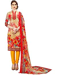Aelicia Synthetic Floral Print Salwar Suit Dupatta Material (Un-stitched)