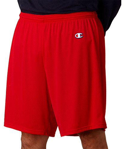 Champion Adult 9 Tricot Body Liner Athletic Mesh Short Scarlet