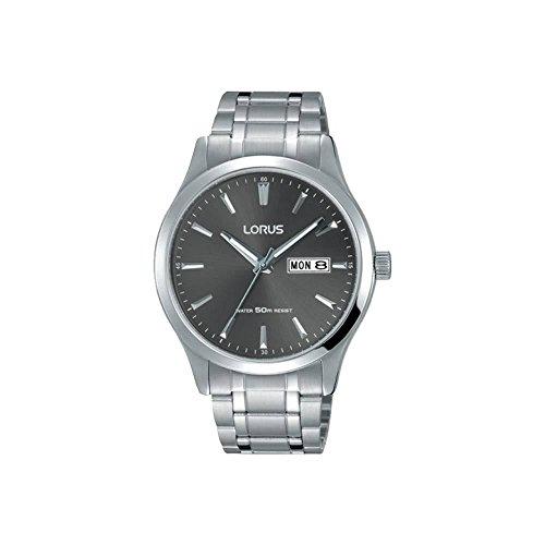 Lorus RXN35DX9 Mens Gents Stainless Steel Grey Dial Bracelet Wrist Watch